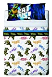 Nickelodeon Tortugas Ninja Bros - Juego de sábanas de 3 piezas para cama de 90 cm