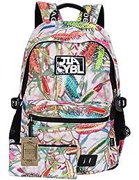 Mocha weir JIAYBL Laptop Taschen Schultern Kinder Schultaschen Rucksack Hochschule Mädchen Canvas Pack reisen