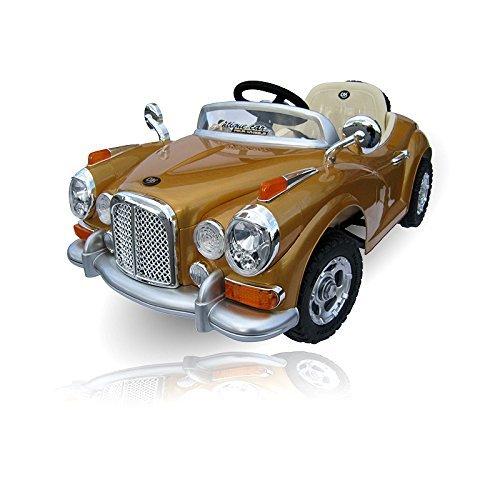 Children-Electric-car-MB-vintage-im-Retro-Style-JE128-electric-Childrens-Car-Children-Vehicle-in-gold