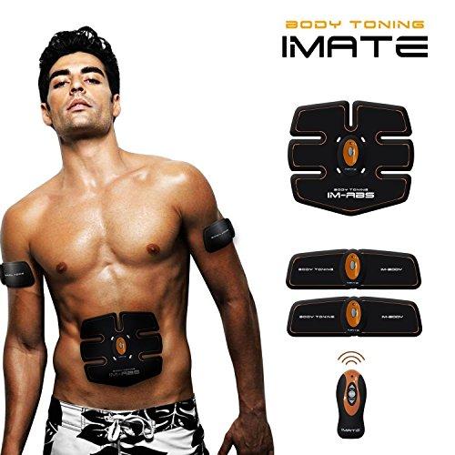 Imate-3 Dimagrire Elettrostimolatore Massaggio Donna/Uomo Pancia Braccia Cosce EMS Attrezzi Fitness Allenamento Muscolare Esercizi Body Shaper Velocemente Automatica Palestra Wireless Telecomando