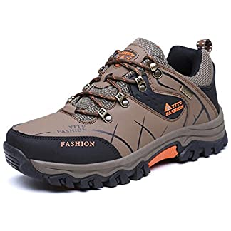 ONENICE Men's Hiking Boots High Top Trekking Shoes Non Slip Outdoor Warm Waterproof Walking Climbing Sneakers