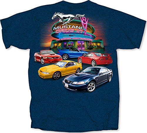 Joe Blow 4th Generation Mustang Drive-In T-Shirt - Schwarz - Groß