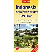Nelles Map Landkarte Indonesia: Sulawesi, Nusa Tenggara - East Timor: 1 : 1,5 Mio   reiß- und wasserfest; waterproof and tear-resistant; indéchirable ... & impermeable (Nelles Map / Strassenkarte)