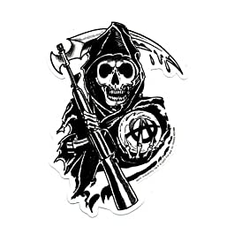 SONS OF ANARCHY, Reaper, Officially Licensed, 4.5″ x 3″, Die-Cut STICKER ADESIVO DECAL