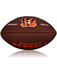 Wilson Football NFL Mini Cincinnati Bengals Logo - Balón de fútbol americano ( caucho ) , color marrón, talla 2