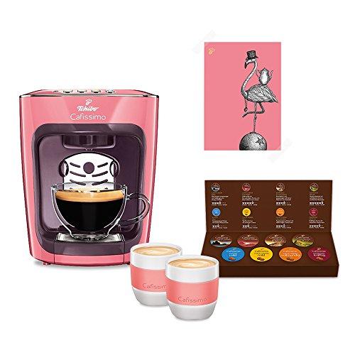 Tchibo Cafissimo mini inkl. Kaffee Kapselmaschine Starterset mit 8 Kapseln und 2 Kaffeebecher,...