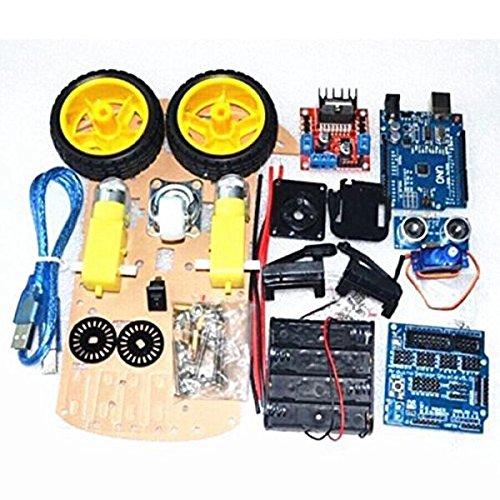 SODIAL Smart Auto Nachfuehrmotor Smart Roboter Auto Chassis 2WD Kit Ultraschall HC-SR04 Sensor fuer Arduino DIY