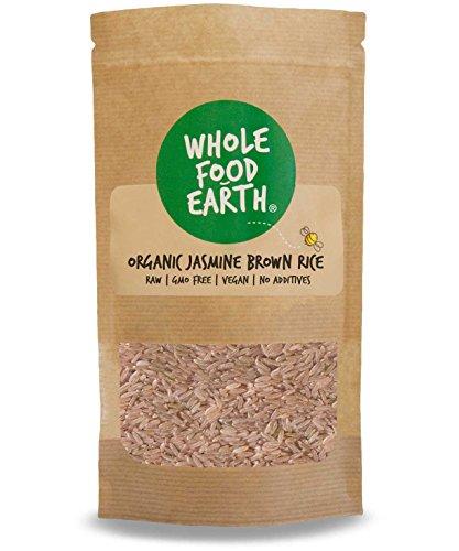 Wholefood Earth - Organic Jasmine Brown Rice - Raw - GMO Free - Vegan - No additives - 3kg