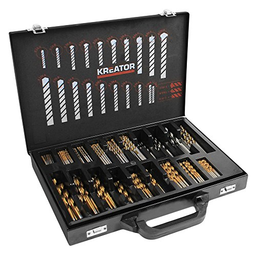 Preisvergleich Produktbild VARO Kreator 120 tlg. Bohrerset Holzbohrer Metallbohrer Steinbohrer in verschiedenen Größen Art. KRT012800
