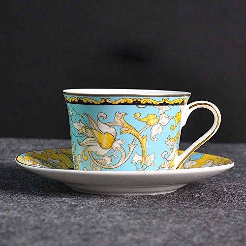 SSBY Europe créative café tasse et soucoupe, porcelaine café ensembles, exquise rouge soucoupe