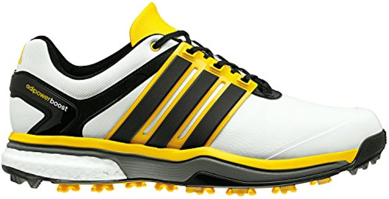 Adidas Mens Adipower Boost Golf Shoes (Night Flash/Silver/Solar)