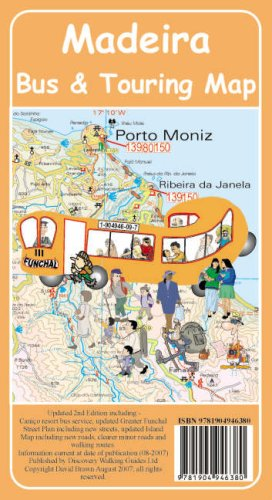 Madeira Bus and Touring Map