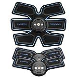 FJT EMS-Muskelstimulator, elektronische abdominale Muskeltrainer intelligente Tragbare Fitnesstrainer Gym Fitness Training Weste Linie