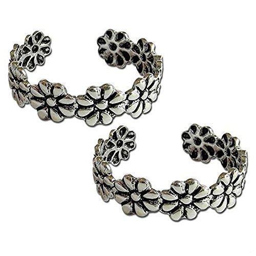 Midi-Ring, Knöchelring, Knuckle Ring, Set mit 2 Stück, verstellbare Ringe, Zehenring