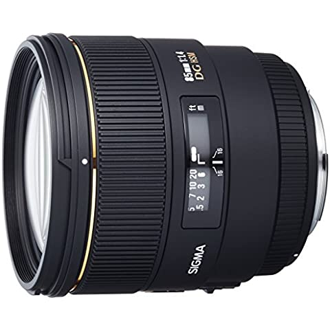 Sigma Sigma 85mm f1.4 EX DG HSM CAF - Objetivo para Canon (distancia focal fija 85mm, apertura f/1.4) color
