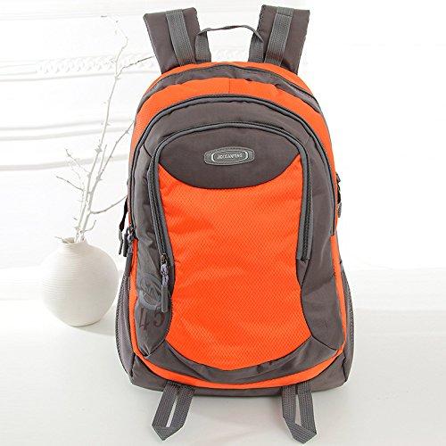 Zaino in nylon trekking zaini per sport all'aria aperta uomo ladies capiente tasca di zaini con tablet PC borsa per il viaggio scuola, 20-35L , orange Orange
