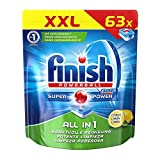 Finish All in 1 Citrus, Spülmaschinentabs, XXL Pack, 63 Tabs