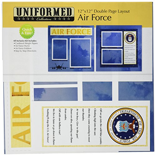 UNIFORMED U.S. Air Force 2 Seite Layout Kit -