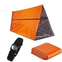 Refugio de supervivencia de emergencia Fuerte PE Tubo reflectante térmico con 1 pieza de manta de emergencia y 1 pieza de pulsera de supervivencia cobra