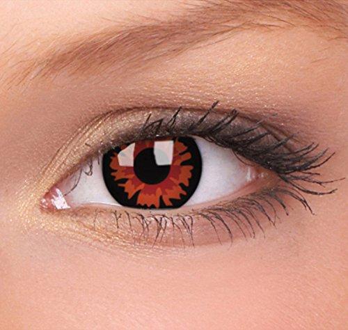 Eye Effect farbige Kontaktlinsen in vielen Farben für schöne natürlich Augen + gratis Kontaktlinsenbehälter (Volturi)