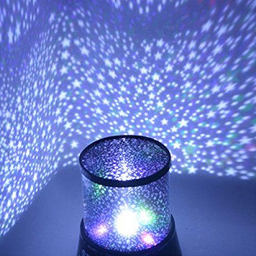 Gladle Bunte romantische LED Star Master Sky Sternennachtprojektor Für das Weihnachtsgeschenk des Kindes (Sternenklarer Himmel)