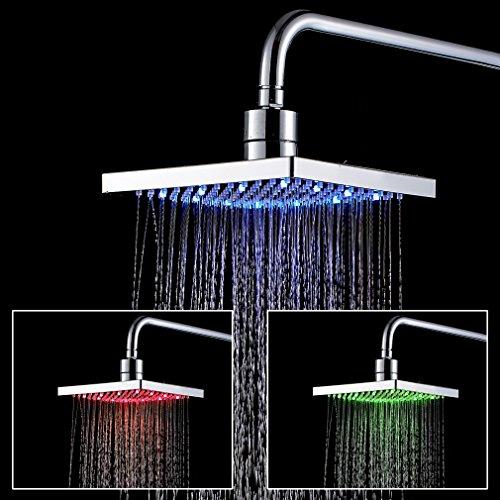 Auralum Überkopf-Brause mit 4 Abwechslungsreiche LED Farben