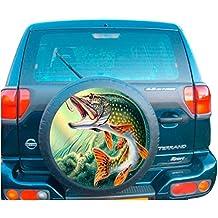 4x 4cubierta de la rueda de repuesto–Adhesivo La pesca del lucio
