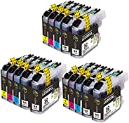 GLEGLE LC223XL Cartuchos Tinta Brother 15 Multipack Reemplazo para LC223 Compatible con Brother MFC-J5320DW J4