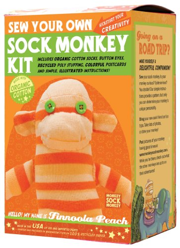 Sock Monkey Kit, Orange , Made in the USA (Ein Sock Monkey)