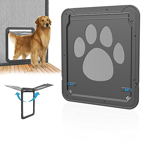 Somedays dog door screen door, novità multifunzione pet magnetico porta innovativo con zanzariere per porte per cani gatti, pet screen door pet door