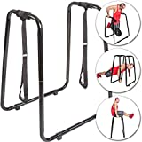 C.P. Sports Dip-Station mit Schlaufen für Push Ups Dips Beinlifts Klimmzüge Liegestütze, Fitness Bodybuilding Crossfit Home Gym Sport Training
