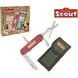 SCOUT Kindertaschenmesser mit Gürteltasche, Schere und Schraubendreher, 18 cm: Taschenmesser Kinder Klappmesser Kindermesser Messer