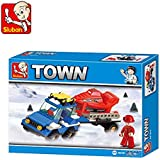 Sluban Als Skating Rink Building Block Toys For Kids 135 Pieces Multi Color LEGO Compatible Educational Toys M38-B0158