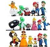 Tronzo Pack Lote 18 unids/Set Super Mario Bros Figura de acción...