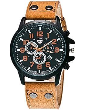 Franterd® Uhren, Unisex Männer Frauen wasserdichte Armbanduhr elegant Uhr Zeitloses Design Classic Leather römischen...