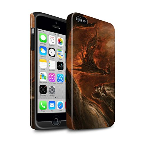 Offiziell Chris Cold Hülle / Glanz Harten Stoßfest Case für Apple iPhone 4/4S / Pack 10pcs Muster / Dunkle Kunst Dämon Kollektion Der Anrufer