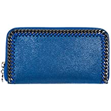 Stella McCartney Continental Falabella billetera mujer blu