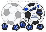Football/Soccer en forme de carte en bleu par Jan Fisher