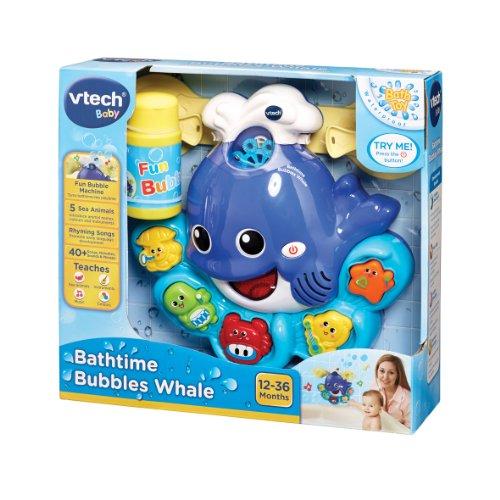 Image of VTech Baby Bathtime Bubbles Whale - Multi-Coloured