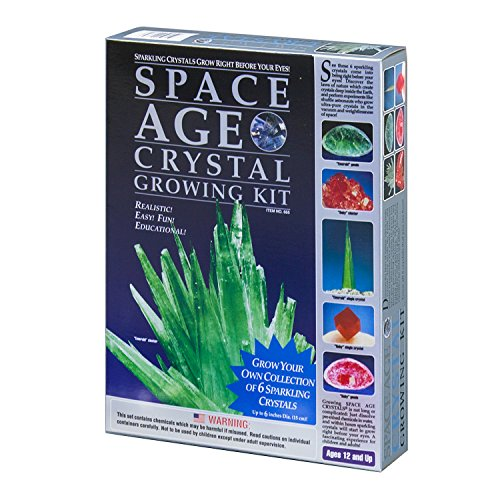 owing Kit: 6 Crystals (Emerald and Ruby) by Kristal Educational (Space Age Crystal Growing Kit)