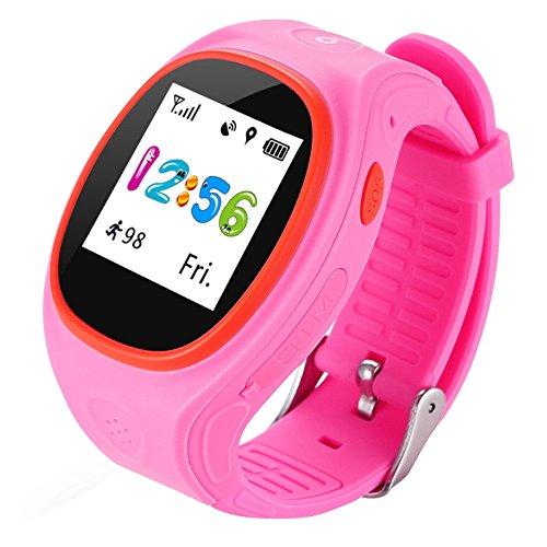 Gps-child-tracker-armband (Kinder Kid Smart Watch S866A Fernüberwachung SOS Kid Schrittzähler GPS Positionierung von iPhone und Android Smartphone , pink DUWIN DUWIN11)