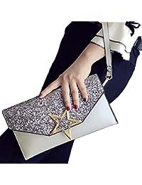 ALAIX para mujer bolso de noche de embrague formal bolso de diamantes de imitación con cadena de hombro de pulsera