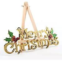 Sedeta® Or Joyeux Noël Mots Ornements Fête de l'arbre du festival Décoration Home école Decor cadeau de Noël