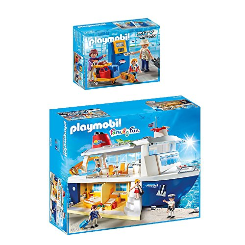 Preisvergleich Produktbild PLAYMOBIL® Family Fun 2er Set 6978 5399 Kreuzfahrtschiff + Familie am Check-in Automat