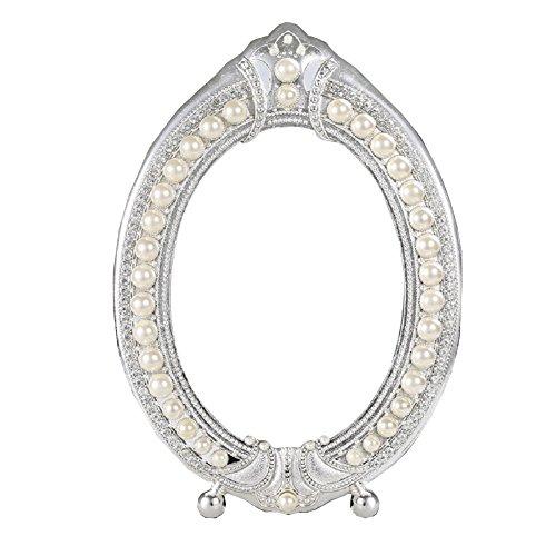 Nerien Retro-Spiegel im europäischen Stil Barock Prinzessin Silber