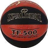 Spalding ACB-L.Endesa Tf500 Sz. 7 (76-287Z) Balón de Baloncesto, Unisex Adulto, Naranja Oscuro/Negro, 7