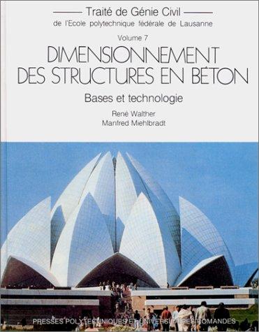 Dimensionnement des structures en béton : Bases et technologie