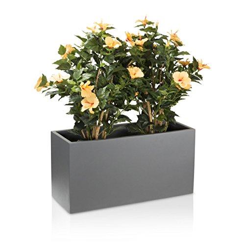 Vaso per piante fioriera vaso per fiori visio in fibra di vetro colore grigio opaco grande - Piante da esterno in vaso ...