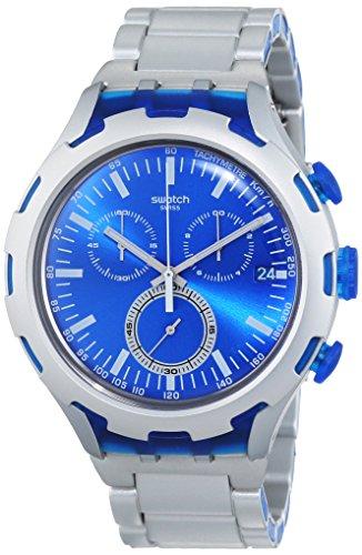 Swatch Herren-Armbanduhr ENDLESS ENERGY Chronograph Quarz Aluminium YYS4001AG (Uhr Aluminium)
