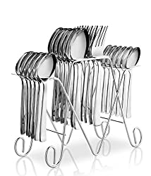 POG Anthem Stainless Steel Cutlery Set With Stand 24 Pcs